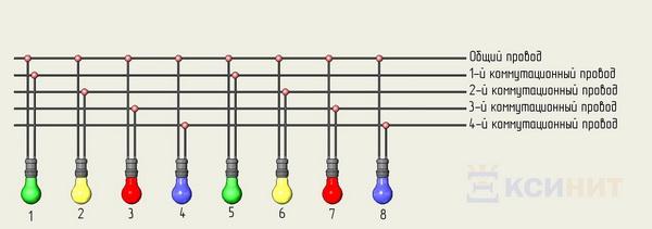 Схема подключения пяти